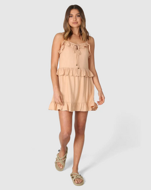 Freya Dress in Tan