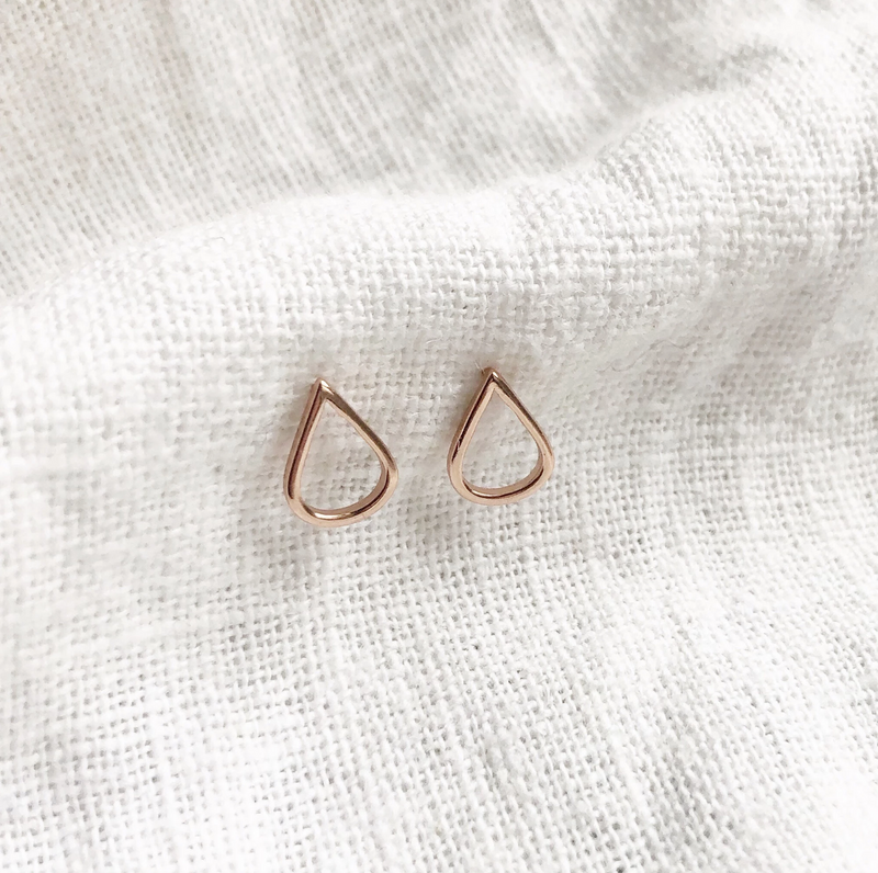 Teardrop Earrings - Rose Gold