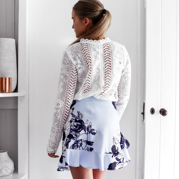 Olivia Lace Blouse - White