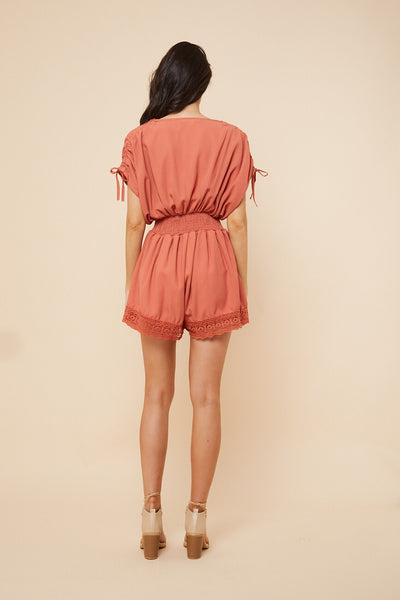 Lucy Playsuit - Coral