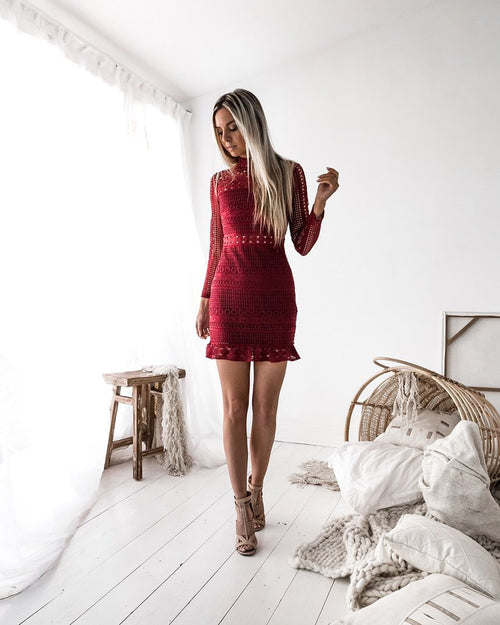 Riverdale Dress In Wine