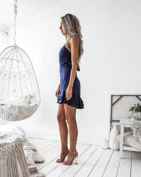 Waldorf Dress - Navy