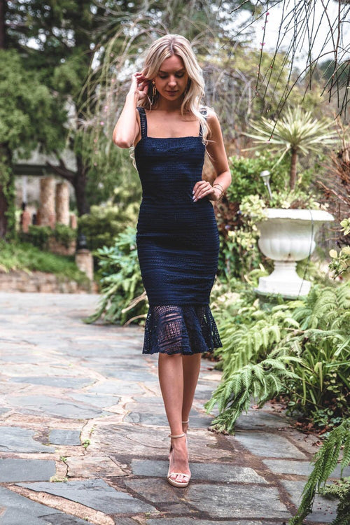 Poppy Dress - Navy