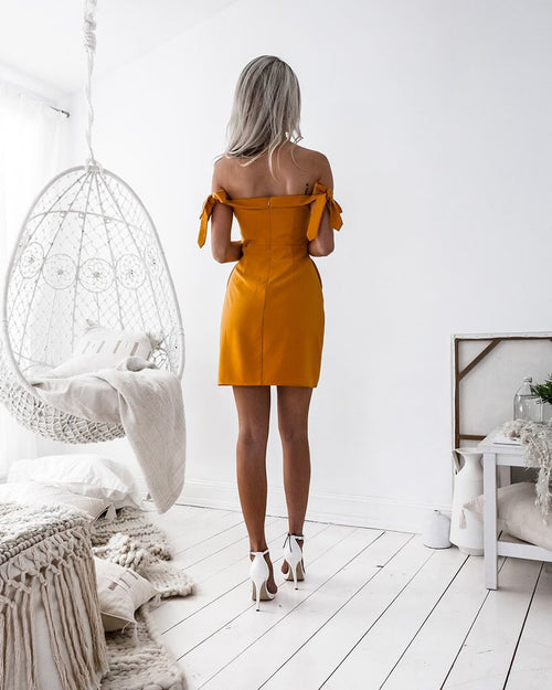 Savannah Dress In Mustard
