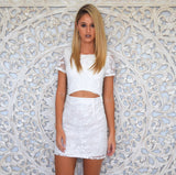 Shay Lace Dress In White