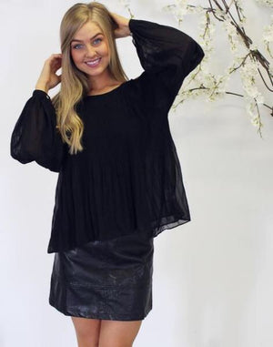 Evelyn Top In Black