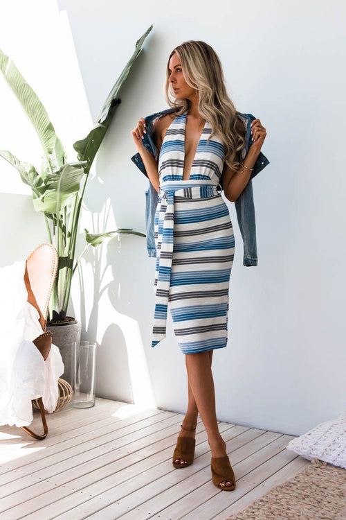 Pia Dress - Stripe