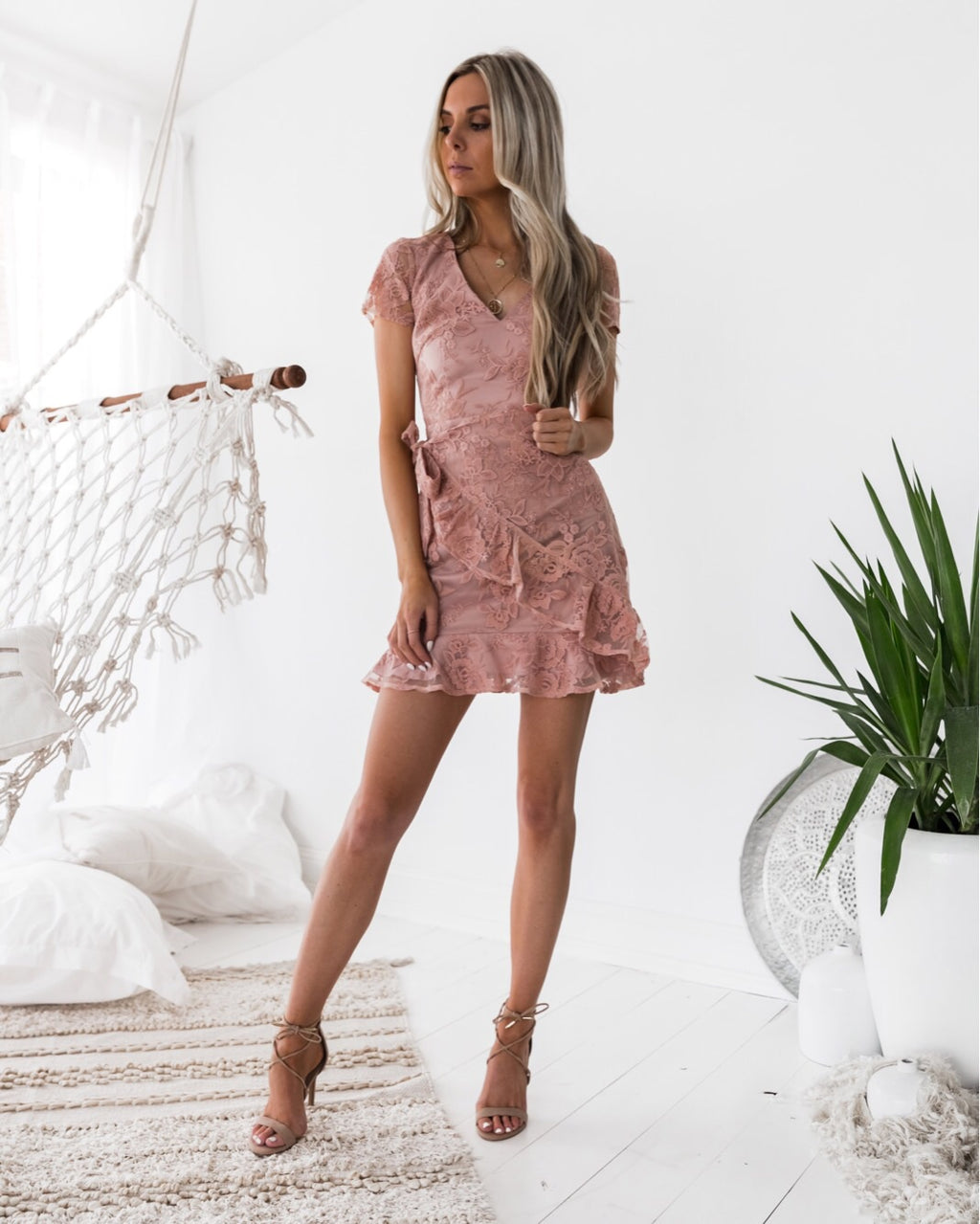 Evie Dress - Dusty Pink
