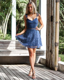 Tessie Dress - Steele Blue