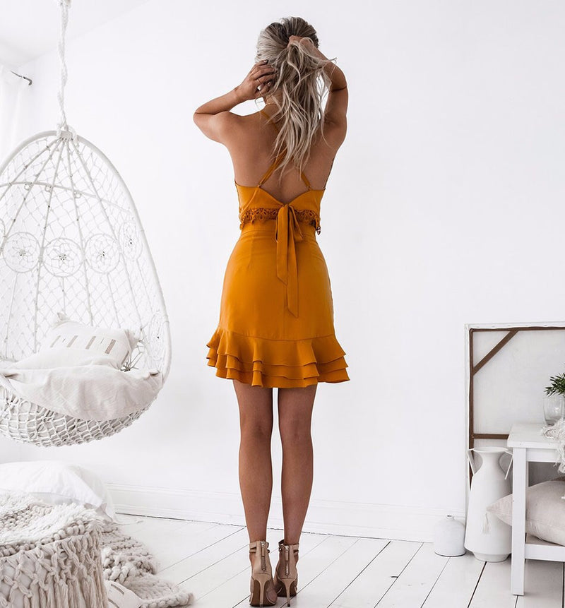 Waldorf Dress In Mustard