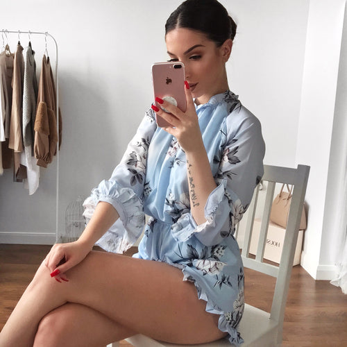 Bella Playsuit - Blue