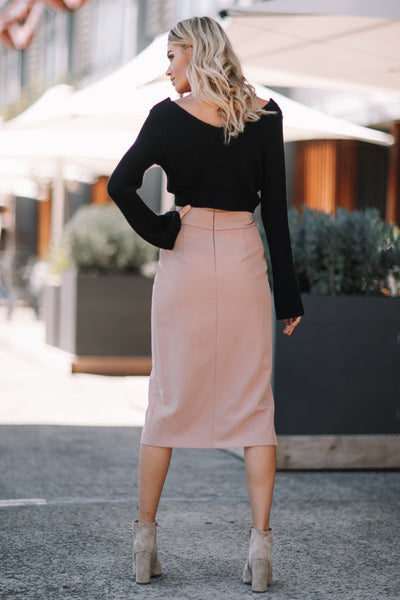Envelope Skirt - Dark Biege