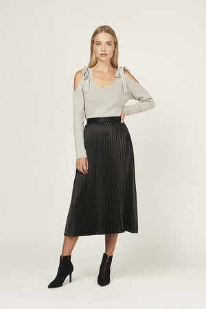 No Reservations Pleated Skirt - Black