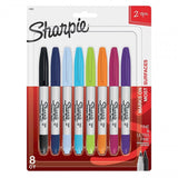 Box mit 8 Sharpie Twintip Fine und Ultra Fine Point gemischte Marker
