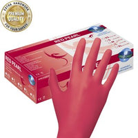Red Pearl - Handschuhe Nitril - Rot