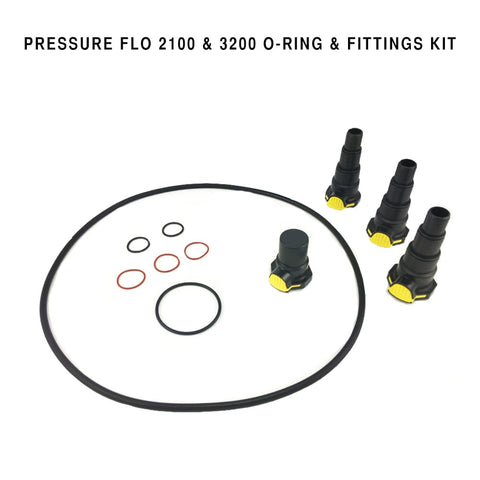 Laguna Replacement O-Ring & Fittings Set For Pressure Flo 2100 & 3200 Filter - lagunapondsupplies.com