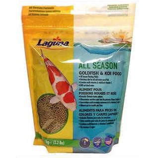 All Season Goldfish/Koi Floating Food 2.2LBS, PT75 - lagunapondsupplies.com