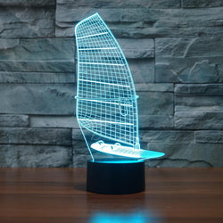 Sailing Boat - 3D LED Lamp - Lamp