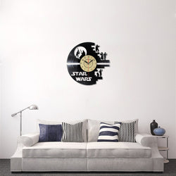 STAR WARS - Vinyl Wall Clock - LED Back Light - Lamp