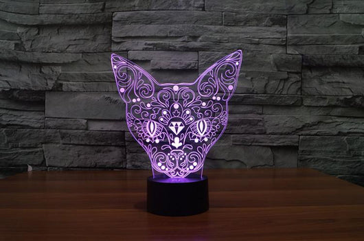 Totem Cat - 3D LED Lamp - Lamp