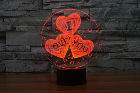 I LOVE YOU - 3D LED Lamp - Lamp