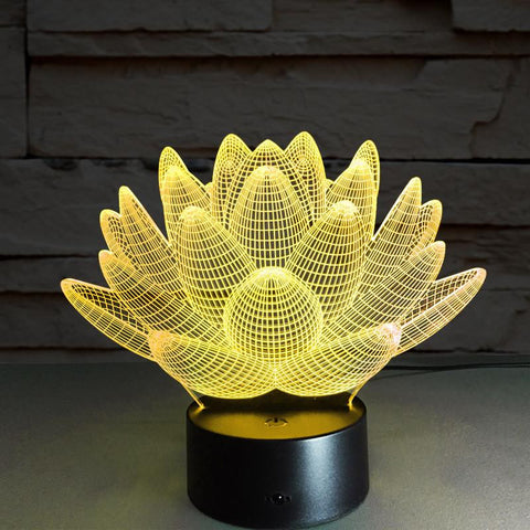 Strange stereoscopic - 3D LED Lamp - Lamp