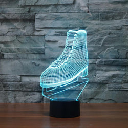 Ice Skating Shoe - 3D LED lamp - Lamp