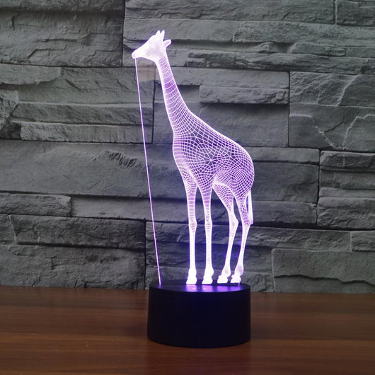 Giraffe - 3D Led Lamp - Lamp
