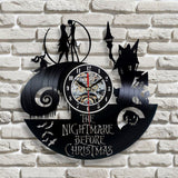 The Nightmare Before Christmas Vinyl Record Wall Clock - Lamp