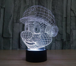 Super Mario - 3D LED Lamp - Lamp