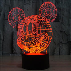 Mickey Mouse - 3D LED Lamp - Lamp