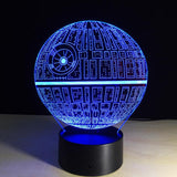 Star Wars Death Star - 3D LED Lamp - Lamp
