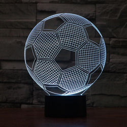 Soccer Ball - 3D LED Lamp - Lamp