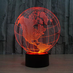 World Map - 3D LED Lamp - Lamp