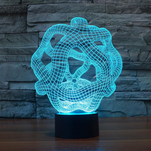Abstract Graphic - 3D LED Lamp - Lamp