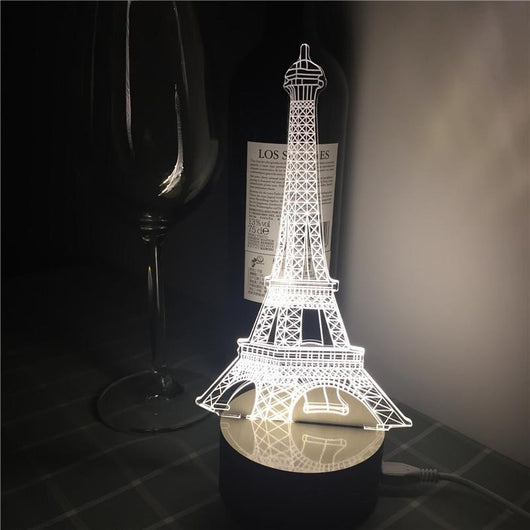 Eiffel tower - 3D LED Lamp - Lamp