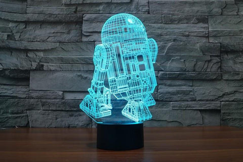 Star War R2D2 - 3D LED Lamp - Lamp