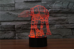 Star Wars Walker - 3D LED Lamp - Lamp