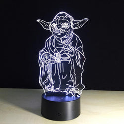 Star Wars Yoda - 3D LED Lamp - Lamp