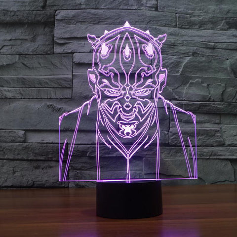 Star Wars Darth Maul - 3D LED Lamp - Lamp