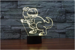 Cartoon Dinosaur - 3D LED Lamp - Lamp
