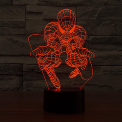 Spiderman - 3D LED Lamp - Lamp