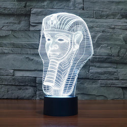 Egypt Pharaoh Shape - 3D LED Lamp - Lamp