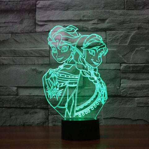 Frozen - 3D LED Lamp - Lamp
