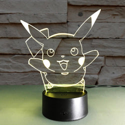 Pikachu - 3D LED Lamp - Lamp