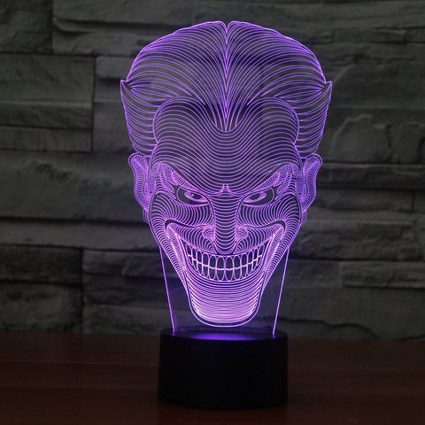 Joker - 3D LED Lamp - Lamp