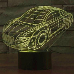 Sports Car - 3D LED Lamp - Lamp