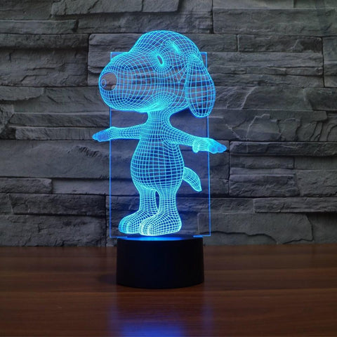 Cartoon Dog - 3D LED Lamp - Lamp