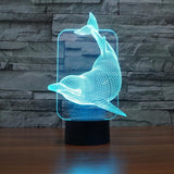 Dolphin - 3D LED Lamp - Lamp