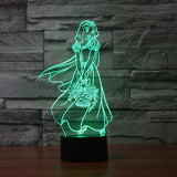Snow White - 3D LED Lamp - Lamp